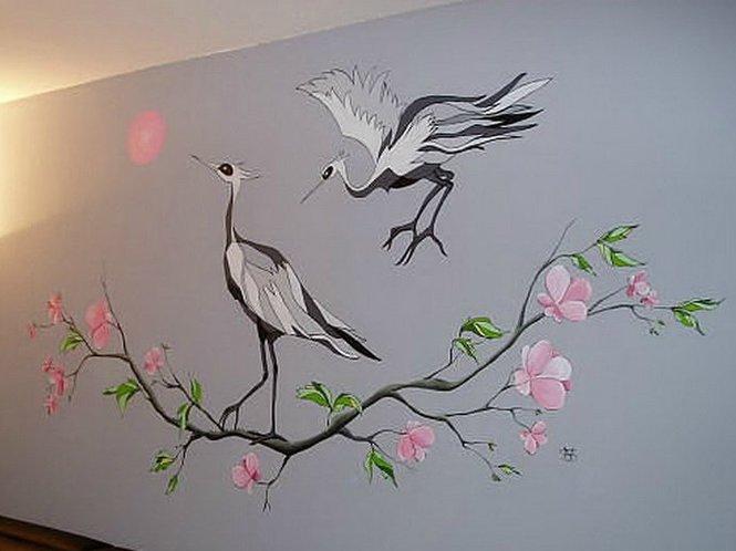 рисунки на стенах в доме своими руками фото